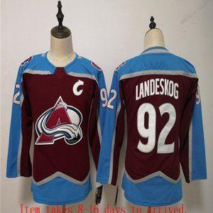 Youth Avalanche #92 Gabriel Landeskog Home Jersey